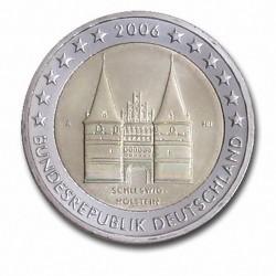 Allemagne 2 Euro commémorative 2006 - Schleswig-Holstein - Holstentor Lübeck - A - Berlin Allemagne 2006  6.000.000 EX.