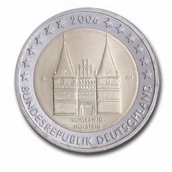 Allemagne 2 Euro commémorative 2006 - Schleswig-Holstein - Holstentor Lübeck - G - Karlsruhe Allemagne 2006  4.200.000 EX.