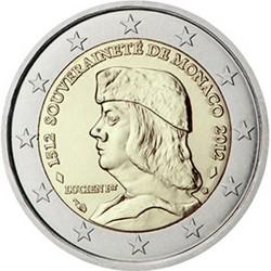 Monaco 2 Euro commémorative 2012 - 500e anniversaire de la souveraineté de Monaco  100.000 EX.