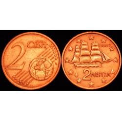 2 CENT Grèce 2002 F UNC 18.000.000 EX.