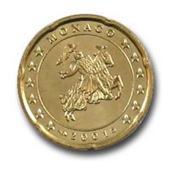 20 CENT MONACO 2001  389.900 EX.