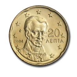 20 CENT Grèce 2004 UNC 500.000 EX.