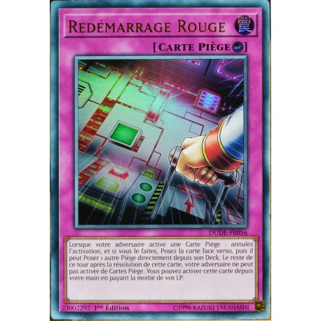 carte YU-GI-OH DUDE-FR056 Redémarrage Rouge NEUF FR