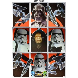 carte TOPPS STAR WARS  Puzzle complet 134-142 Force Attax NEUF FR