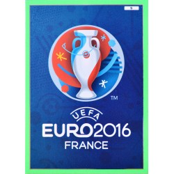 carte PANINI EURO 2016 #5 LOGO