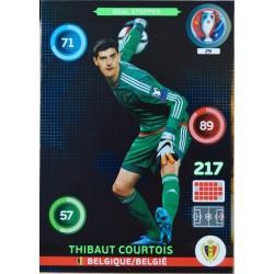 carte PANINI EURO 2016 #29 Thibaut Courtois