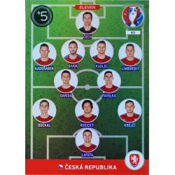 carte PANINI EURO 2016 #63 Eleven Czech Republic