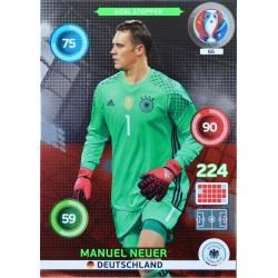 carte PANINI EURO 2016 #65 Manuel Neuer