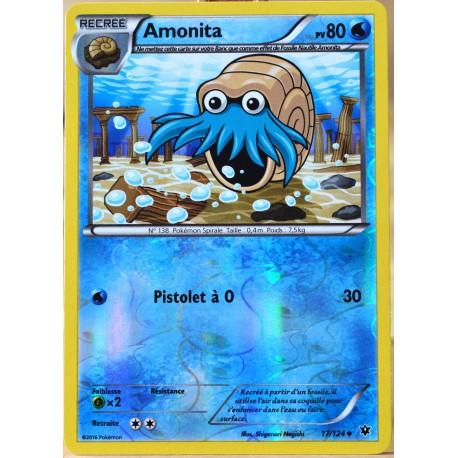 carte Pokémon 17/124 Amonita 80 PV - REVERSE XY - Impact des Destins NEUF FR