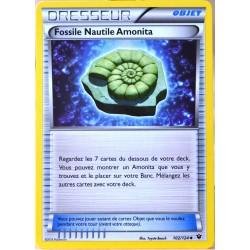 carte Pokémon 102/124 Fossile Nautile Amonita XY - Impact des Destins NEUF FR