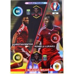 carte PANINI EURO 2016 #44 Benteke - Lukaku