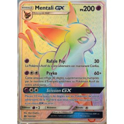carte Pokémon 152/149 Mentali-GX - FULL ART SECRETE SM1 - Soleil et Lune NEUF FR