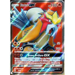 carte Pokémon 71/73 Entei-GX SL3.5 Légendes Brillantes NEUF FR