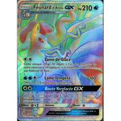carte Pokémon 150/145 Feunard d'Alola GX  210 PV - SECRETE FULL ART