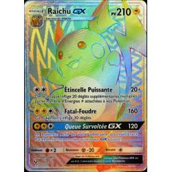 carte Pokémon 75/73 Raichu-GX  210 PV - SECRETE FULL ART
