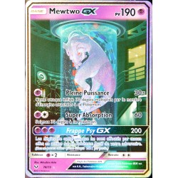 carte Pokémon 78/73 Mewtwo-GX  190 PV - SECRETE FULL ART
