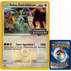 carte Pokémon  Raikou, Entei et Suicune JUMBO 500 PV Promo NEUF FR