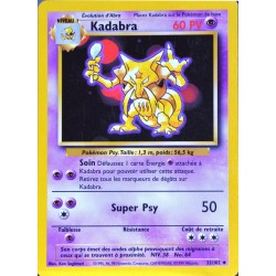 carte Pokémon 32/102 Kadabra 60 PV Set de base NEUF FR