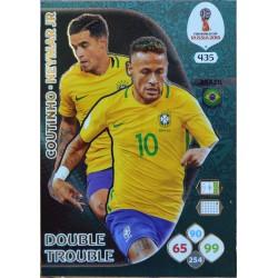 carte PANINI ADRENALYN XL FIFA 2018 #435 Coutinho- Neymar Jr / Brazil