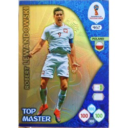carte PANINI ADRENALYN XL FIFA 2018 #467 Robert Lewandowski / Poland
