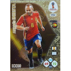 carte PANINI ADRENALYN XL FIFA 2018 #442 Andrés Iniesta / Spain