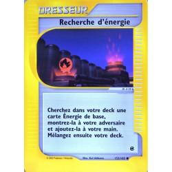 carte Pokémon 153/165 Recherche d'énergie Dresseur Expédition NEUF FR