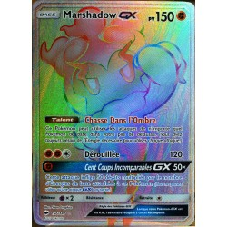 carte Pokémon 156/147 Marshadow GX SECRETE FULL ART SL3 - Soleil et Lune - Ombres Ardentes NEUF FR