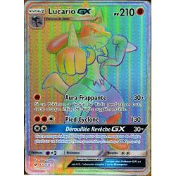 carte Pokémon 135/131 Lucario GX SL6 - Soleil et Lune - Lumière Interdite NEUF FR