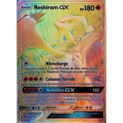 carte Pokémon 71/70 Reshiram GX 180 PV - SECRETE SL7.5 - Majesté des Dragons NEUF FR
