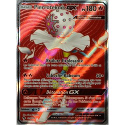 carte Pokémon 199/214 Pierroteknik GX 180 PV - FULL ART SL8 - Soleil et Lune - Tonnerre Perdu NEUF FR