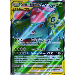 carte Pokémon 159/181 Celebi & Florizarre GX 270 PV - FULL ART SL9 - Soleil et Lune - Duo de Choc NEUF FR