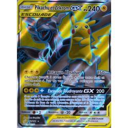 carte Pokémon 162/181 Pikachu & Zekrom GX 240 PV - FULL ART SL9 - Soleil et Lune - Duo de Choc NEUF FR