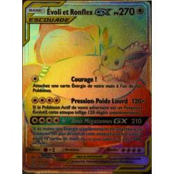 carte Pokémon 191/181 Evoli & Ronflex GX SL9 - Soleil et Lune - Duo de Choc NEUF FR