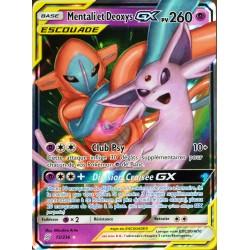 carte Pokémon 72/236 Mentali & Deoxys GX (Escouade) SL11 - Soleil et Lune - Harmonie des Esprits NEUF FR