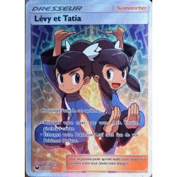 carte Pokémon 166/168 Lévy et Tatia SL7 - Soleil et Lune - Tempête Céleste NEUF FR