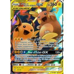 carte Pokémon 54/236 Raichu & Raichu d'Alola GX (Escouade) SL11 - Soleil et Lune - Harmonie des Esprits NEUF FR