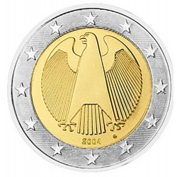 2 EURO Allemagne 2004 G BE 140.000 EX.
