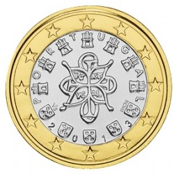 1 EURO PORTUGAL 2013 BU 39.500 EX.