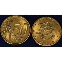 50 CENT Finlande 2002 UNC 1.147.000 EX.