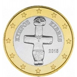 1 EURO CHYPRE 2015 UNC 100.000 EX.