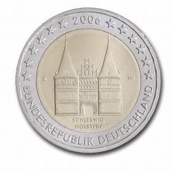 Allemagne 2 Euro commémorative 2006 - Schleswig-Holstein - Holstentor Lübeck - D - Munich Allemagne 2006  6.300.000 EX.