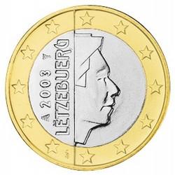 1 EURO Luxembourg 2003 BU 1.600.000 EX.