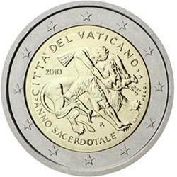 Vatican 2 Euro commémorative 2010 - Année sacerdotale - Blister  100.000 EX.