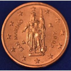 2 CENT SAN MARIN 2002 BU 120.000 EX.