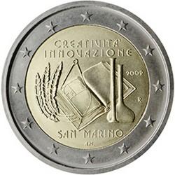 Saint-Marin 2 Euro commémorative 2009 - Année européenne de la créativité et de l'innovation  130.000 EX.