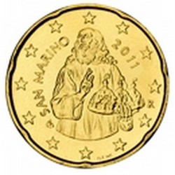 20 CENT SAN MARIN 2011 BU 48.000 EX.