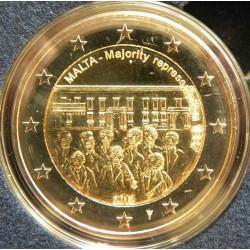 Malte 2 Euro commémorative 2012 - Représentation majoritaire 1887 - avec différent  50.000 EX.