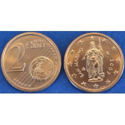 2 CENT SAN MARIN 2007 BU 70.000 EX.