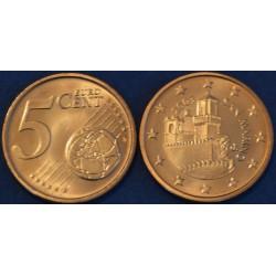 5 CENT SAN MARIN 2003 BU 70.000 EX.