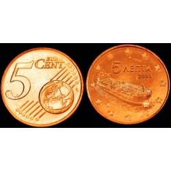 5 CENT Grèce 2003 UNC 750.000 EX.
